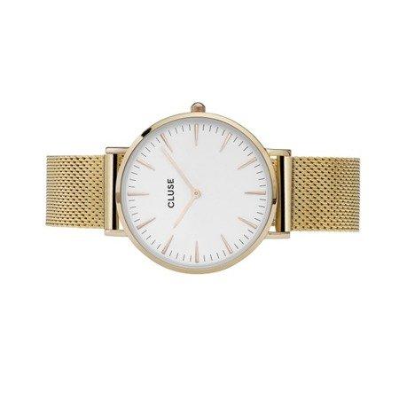 Zegarek damski Cluse La Boheme Mesh Gold/White CL18109