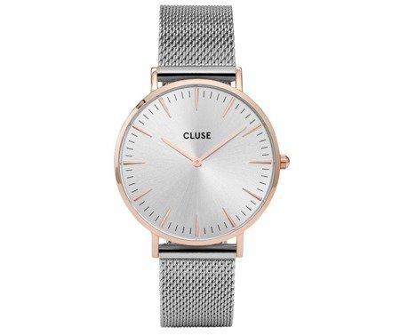 Zegarek damski Cluse La Bohème Mesh Rose Gold/Silver CL18116