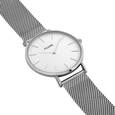 Zegarek damski Cluse La Boheme Mesh Silver/White CL18105
