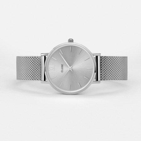 Zegarek damski Cluse Minuit Mesh Full Silver CL30023