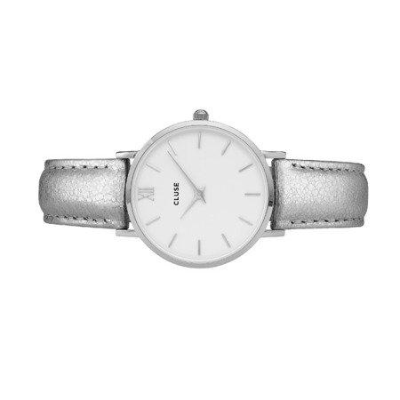 Zegarek damski Cluse Minuit Silver White/Silver Metallic CL30039