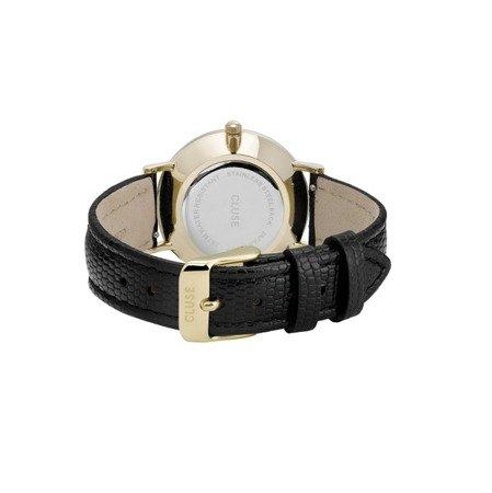 Zegarek damski Cluse Gold White Pearl/Black Lizard CL30048