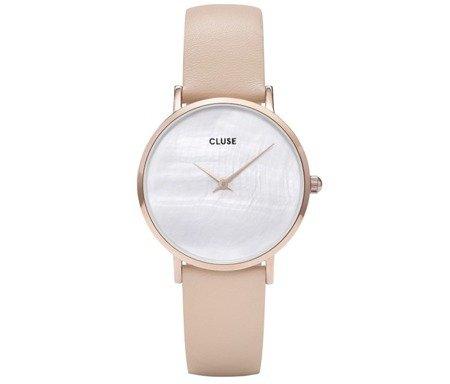 Zegarek damski Cluse La Perle Silver White Pearl/ Nude CL30059