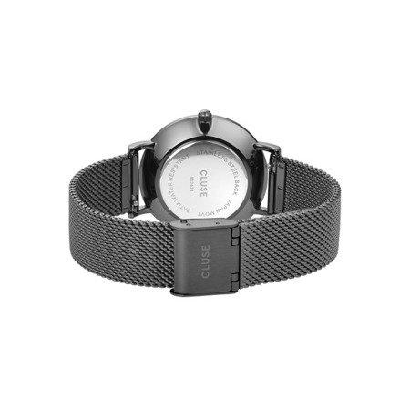 Zegarek damski Cluse Minuit Mesh Silver/Black CL30067