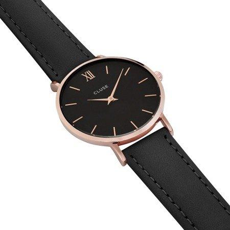 Zegarek damski Cluse Minuit Rose Gold Black/Black CL30022